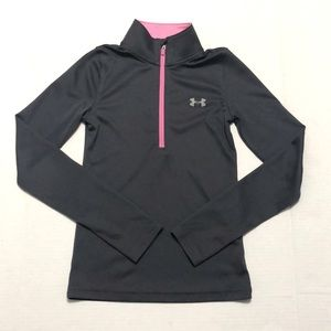 UNDER ARMOUR Loose HeatGear Pullover Zip-up Grey